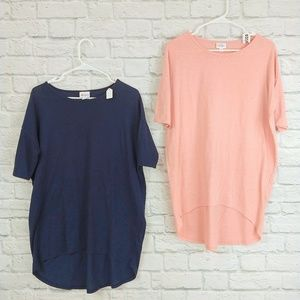 LulaRoe | Irma Navy & Soft Coral Bundle